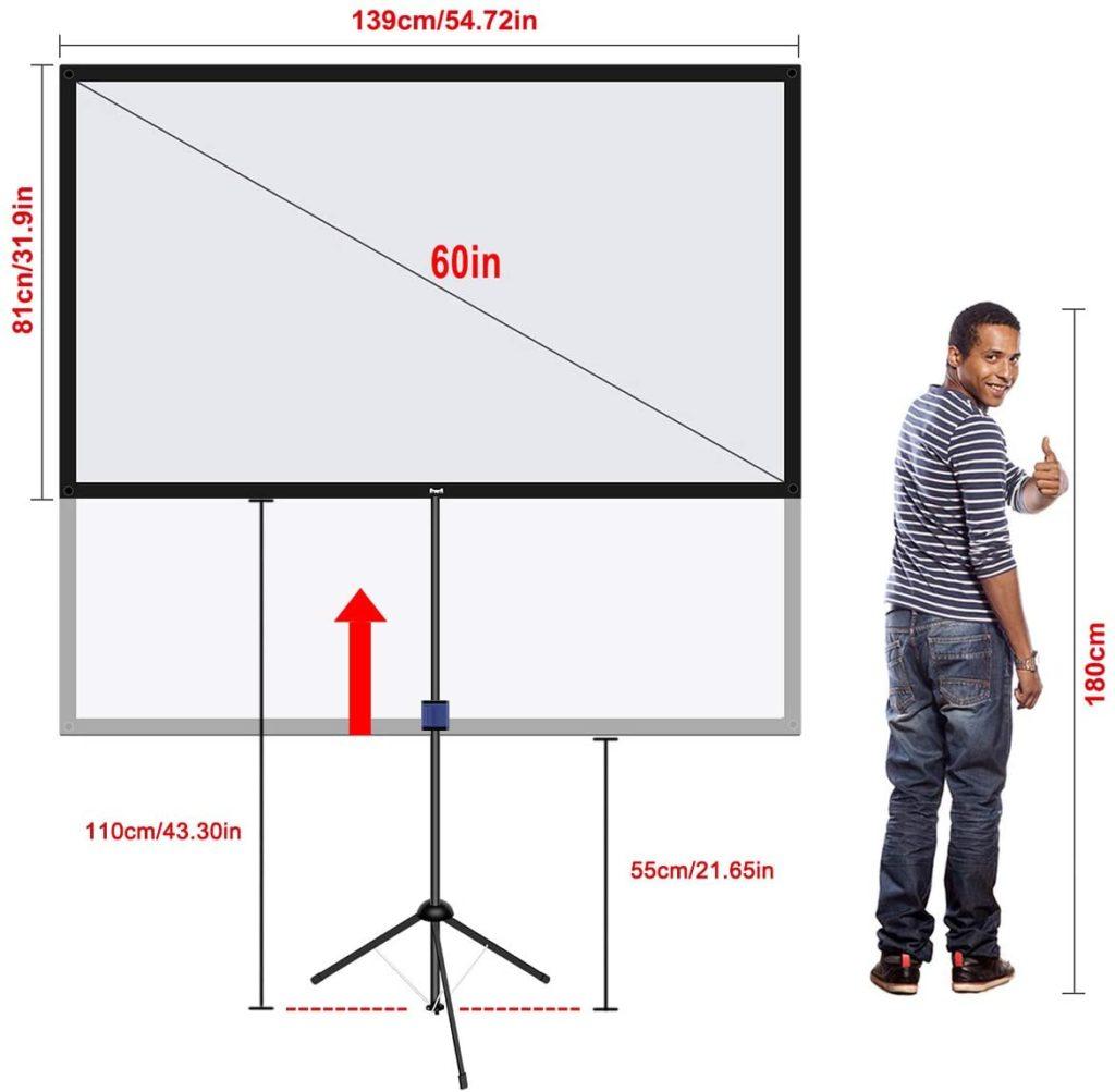 折り畳みスクリーン大きさ|ワイズエフェクト